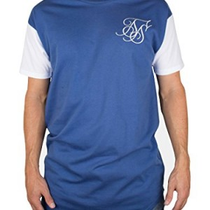 Sik-Silk-Mens-Curved-Hem-T-Shirt-Blue-0