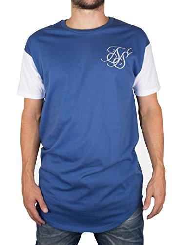 Sik-Silk-Mens-Curved-Hem-T-Shirt-Blue-0