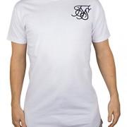 Sik-Silk-Mens-Debossed-Filegree-Racer-Logo-Curved-Hem-T-Shirt-White-0
