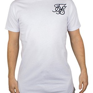 Sik-Silk-Mens-Debossed-Filegree-Racer-Logo-Curved-Hem-T-Shirt-White-0