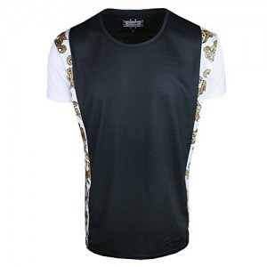 Sik-Silk-SS-2462-Filigree-Fishtail-T-Shirt-Black-0